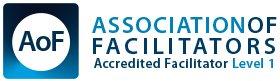 Logo of the Association of Facilitators Accredited Facilitator Level 1