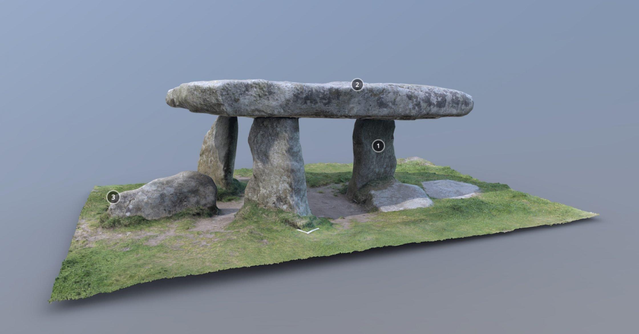 3D model of Lanyon Quoit